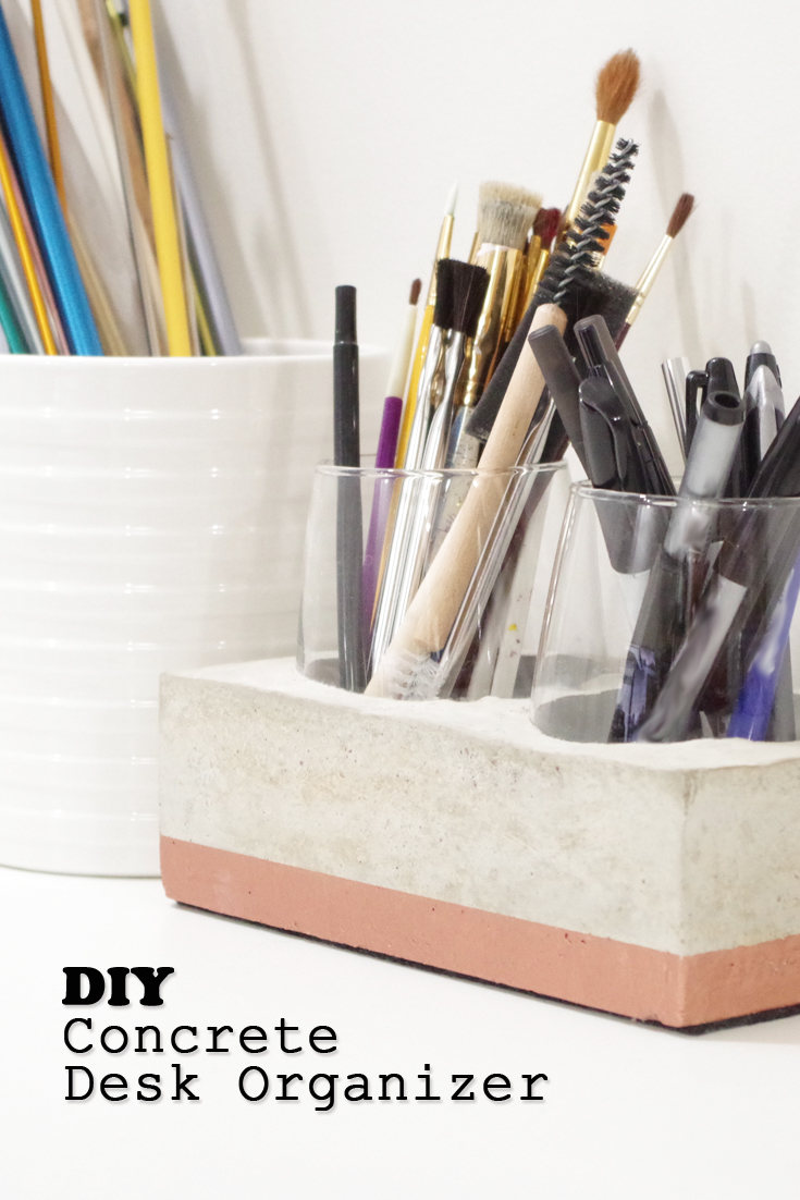 Diy Concrete Desk Organizer Pretty Handy Girl