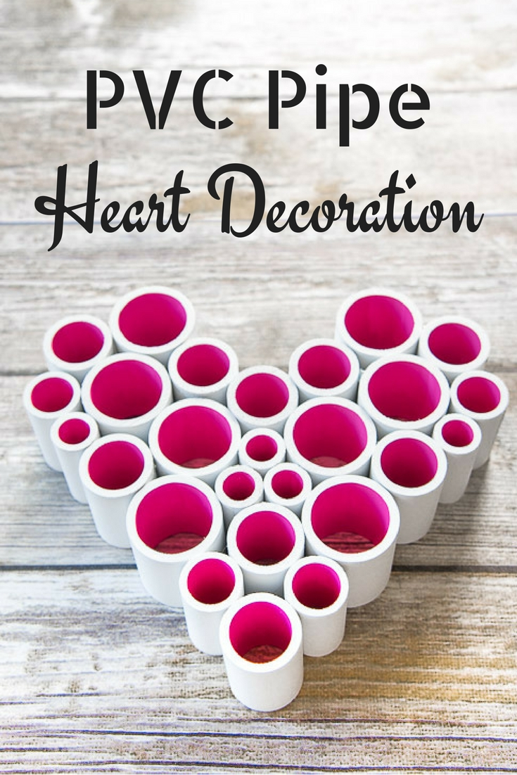 Give your Valentine's Day decor a pop of color with this PVC pipe heart decoration!