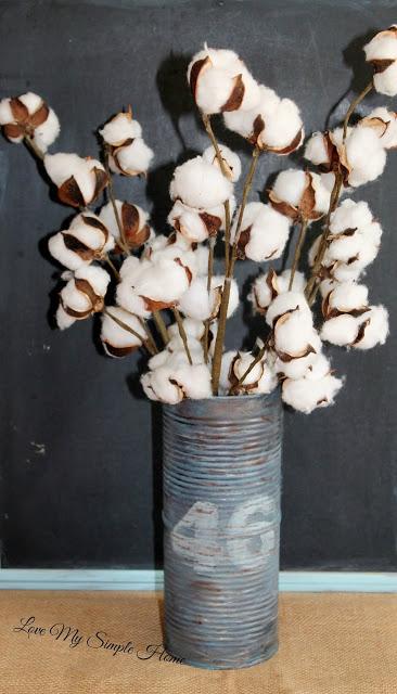 DIY Rustic Tin Can Vase