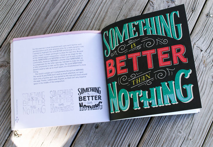 Mastering Hand-Lettering Book - Layout example