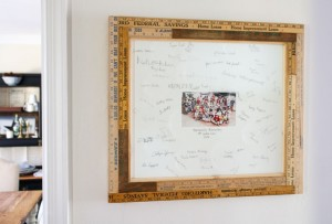 How to Custom Build a Vintage Ruler Picture Frame