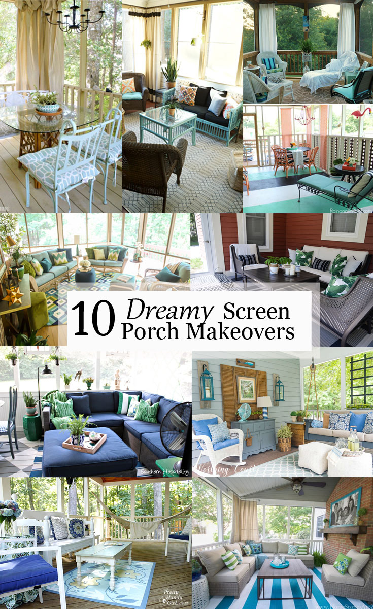These 10 Dreamy Screen Porch Makeovers will inspire you to re-imagine and update your screened-in porch and turn it into your very own peaceful retreat, no matter the season.