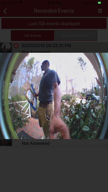 captured doorbell ring photo
