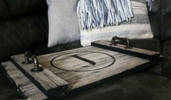 DIY Farmhouse Style Serving Tray