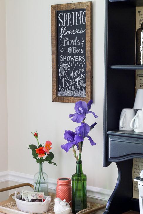 FREE Spring Flowers Chalkboard Art Printable