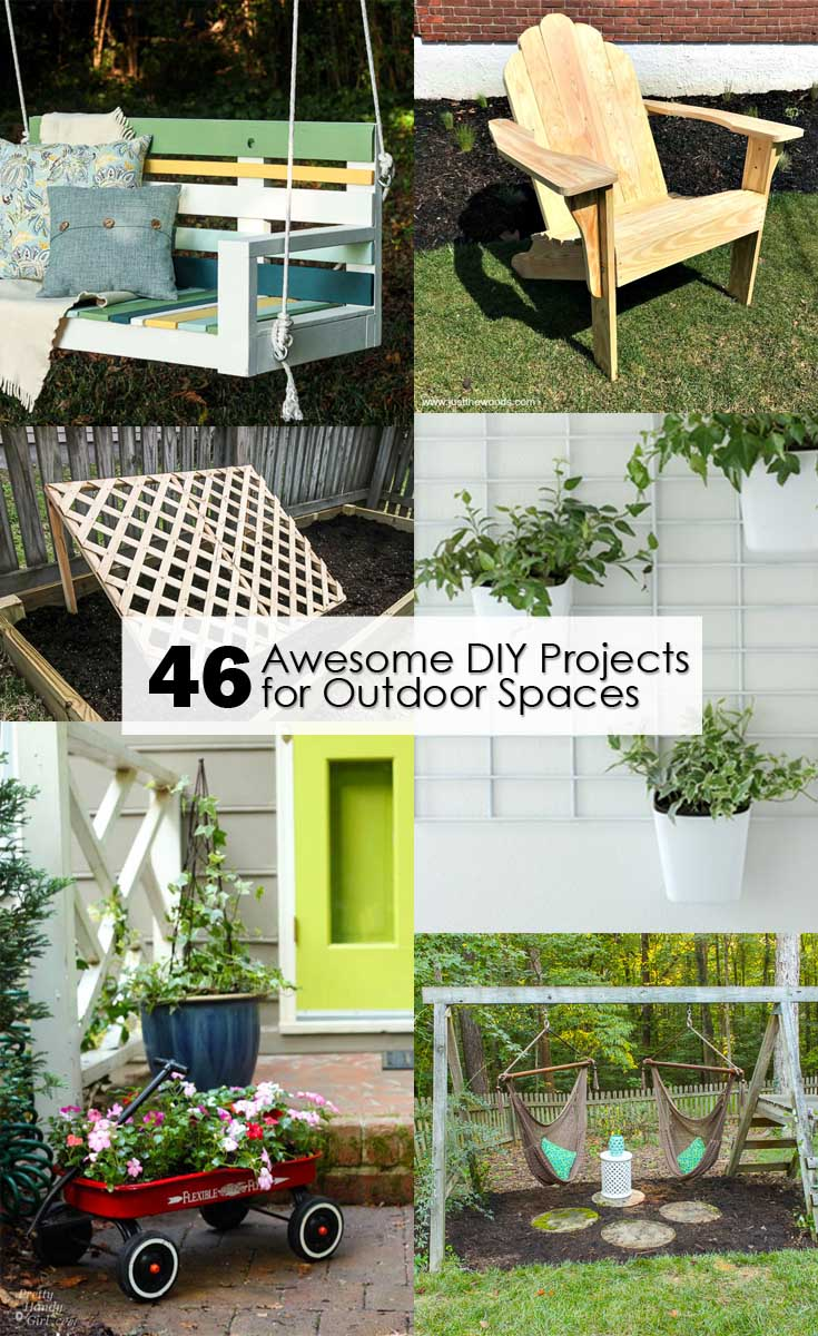 Find full tutorials for these 46 Awesome DIY Projects for Outdoor Spaces