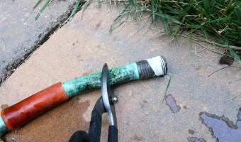 cut off old hose end
