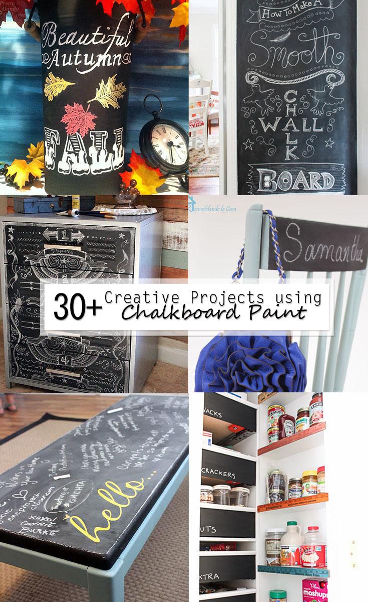 30 plus creative projects using chalkboard paint pinterest image