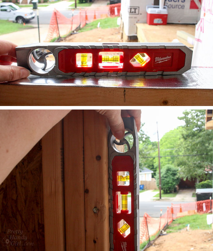 level and plumb rough opening