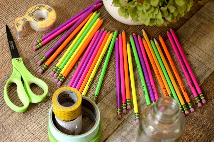 Diy Back To School Pencil Vase Pretty Handy Girl
