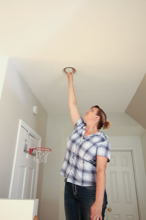 Update Ugly Recessed Can Lights with Energy Efficient LED