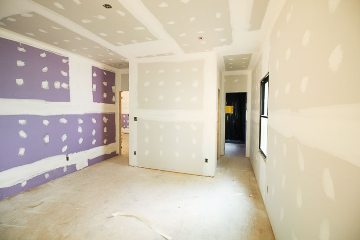 SoundBreak drywall on master bedroom wall