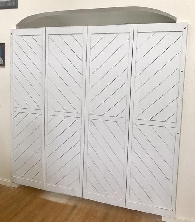 Barn Door Inspired Bi-Fold Doors