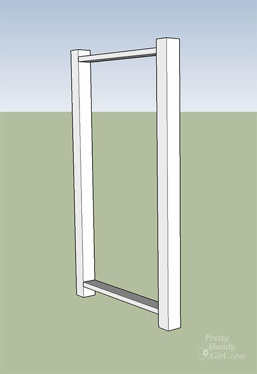 secure-2x4 horizontal lumber