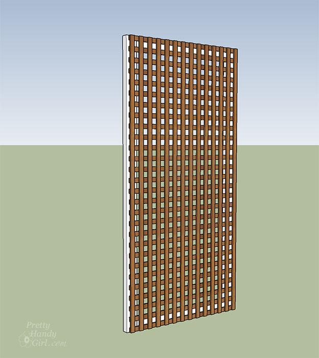 add lattice panel to 2x4 frame