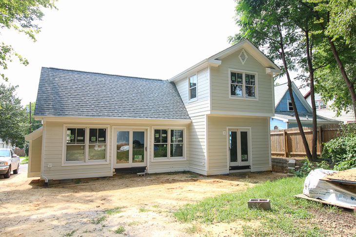 back of saving etta house before landscaping