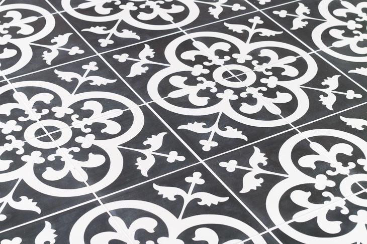 Avington Black & White Cement Tiles from TheBuilderDepot.com