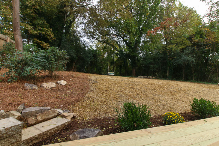 after view of landscaped saving etta yard