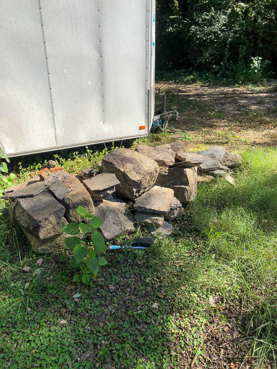 pile of pier stones ready for reuse