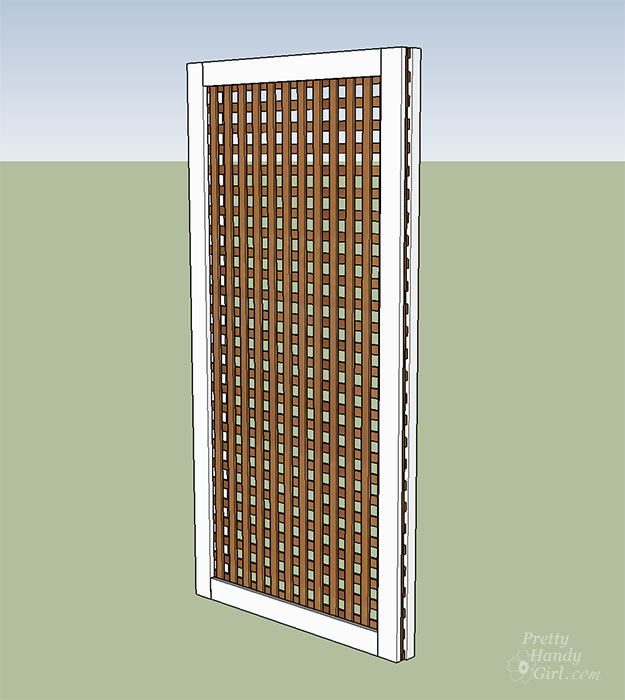 sandwich lattice between 1x4 and 2x4 frames