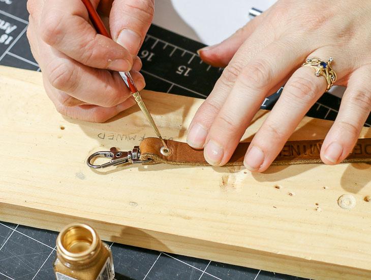 painting rivet gold