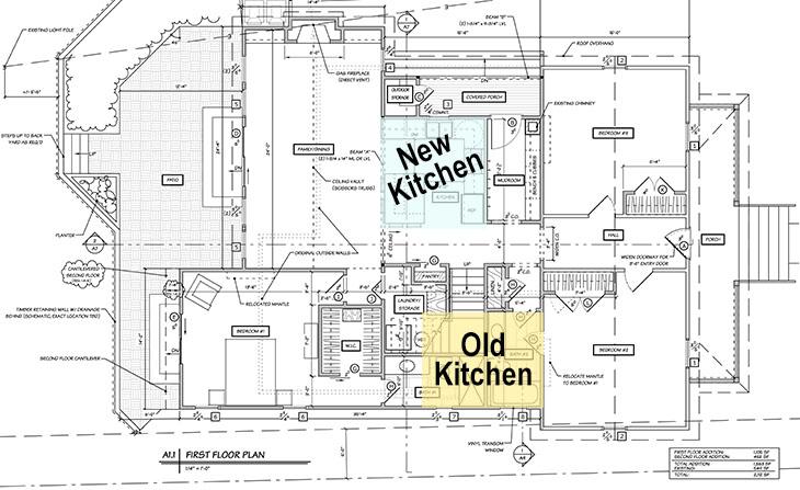 Saving Etta First Floor Blueprints - Kitchen Location