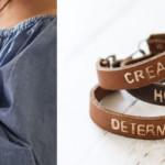 diy stamped leather bracelets
