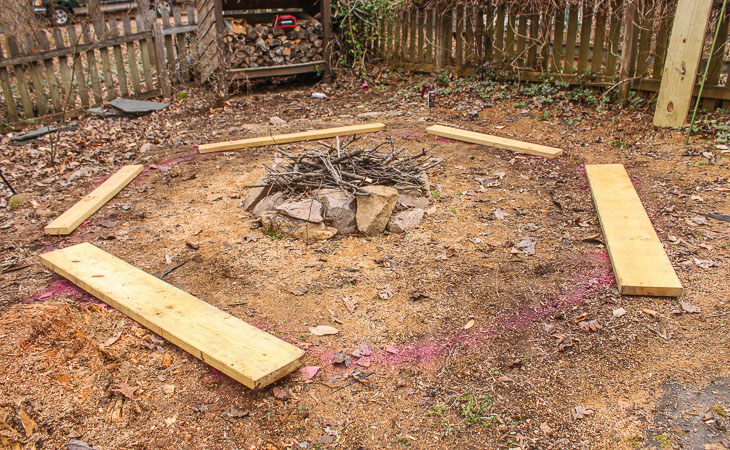 DIY Built-In Fire Pit Benches
