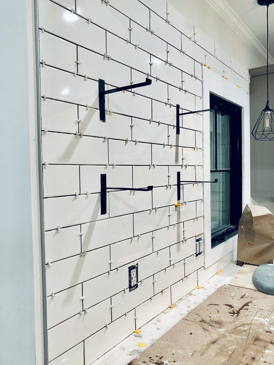 installing subway tile with spacers