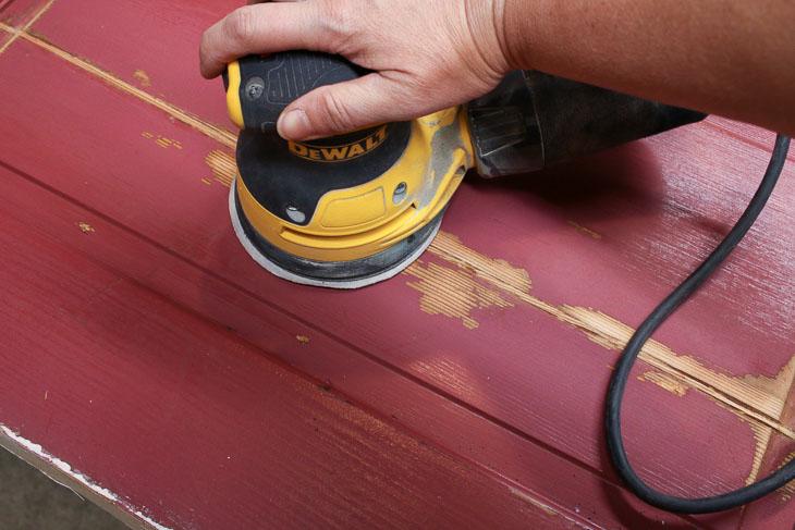 Sand fixed door crack smooth