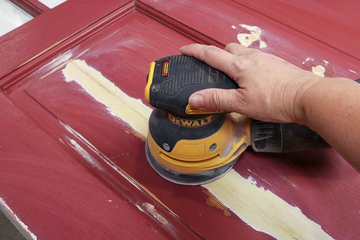 Sand cracked door panel repair smooth