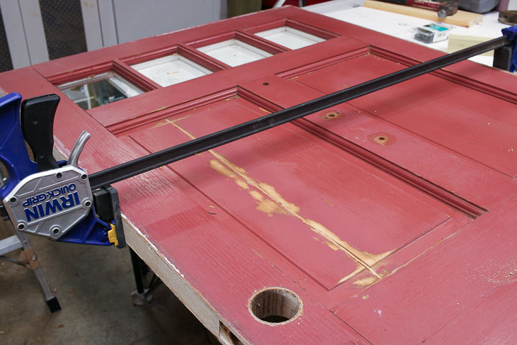 Clamp door repair overnight.