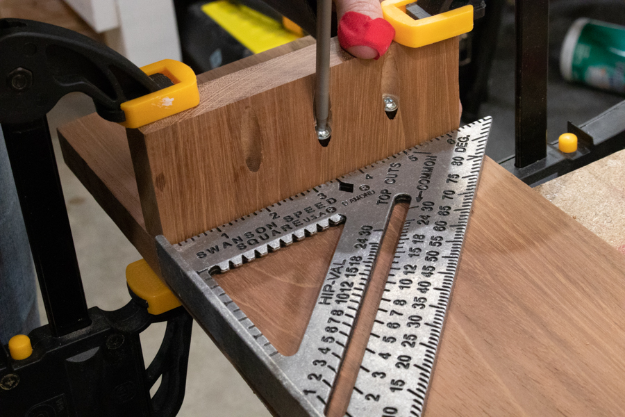 Attach small pieces to bottom with pocket screws