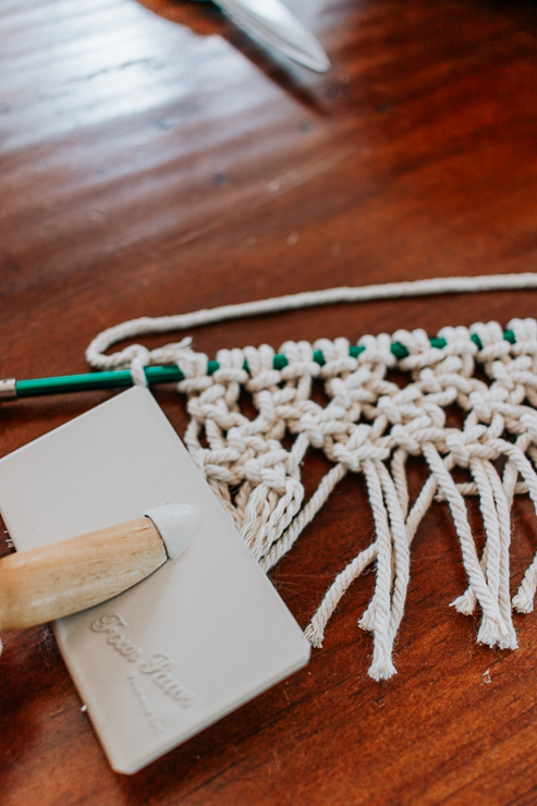 Brush out the cords with a wire brush
