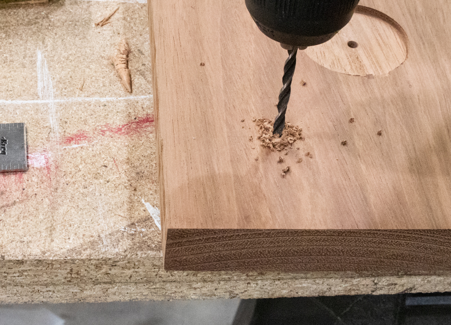 drill holes for attaching handles