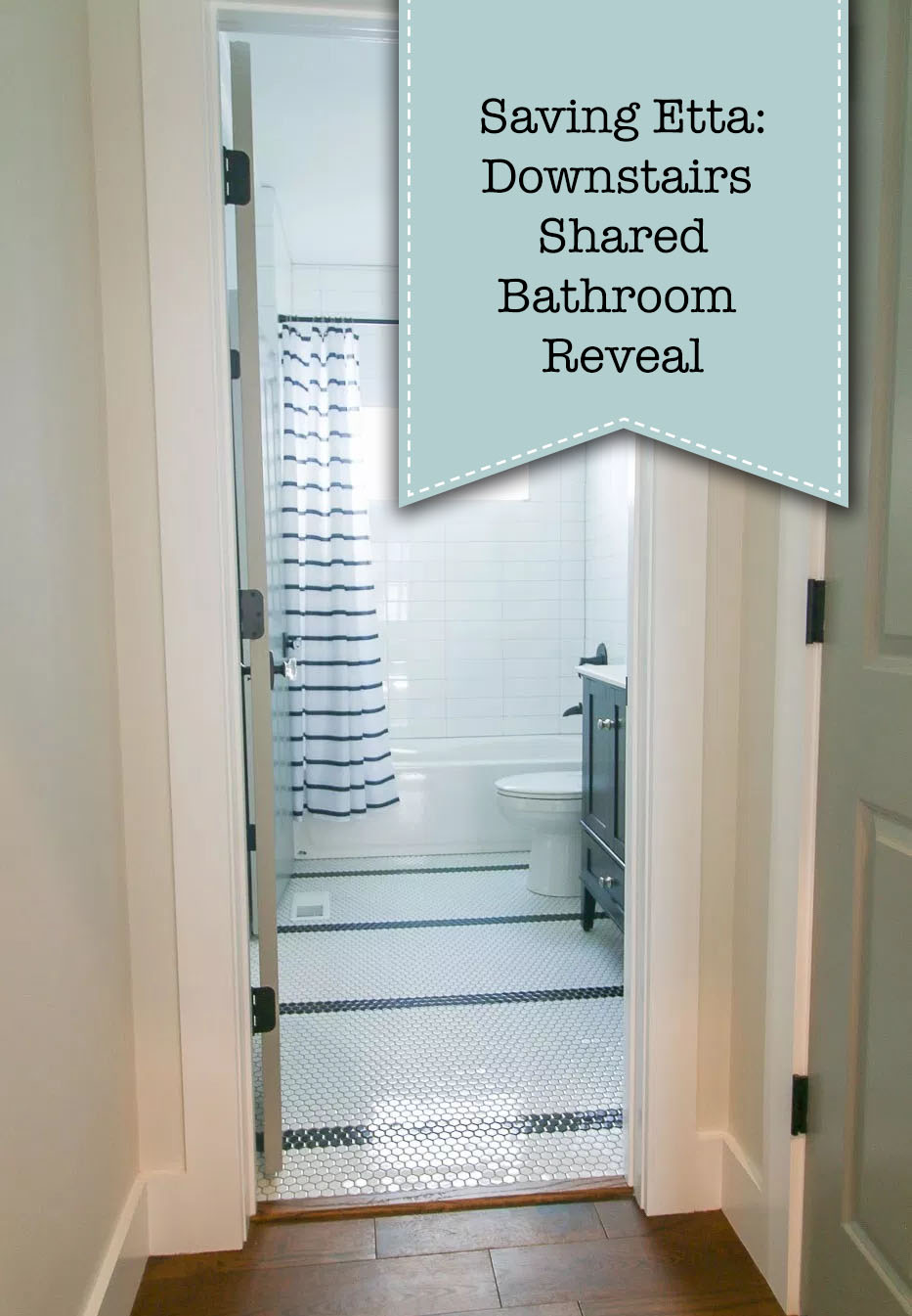 Saving Etta: Downstairs Bathroom Reveal