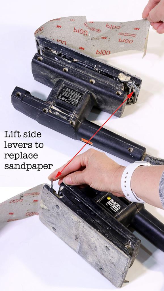 replacing sheet sander sandpaper
