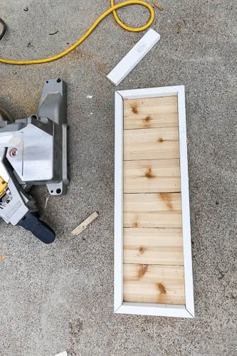 cutting trim for house number sign