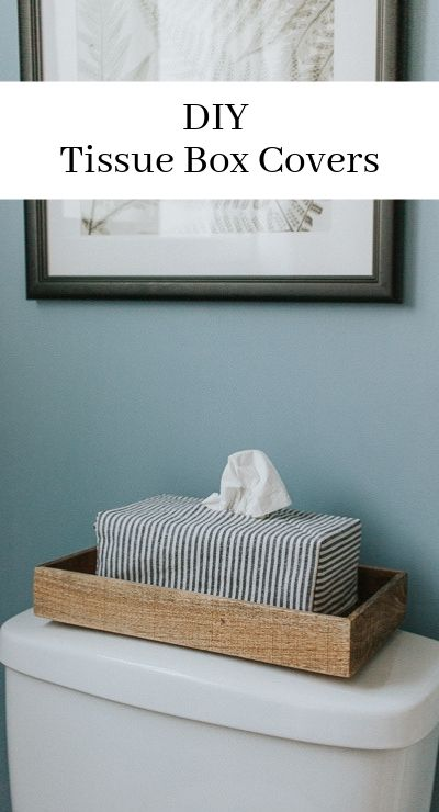 Make these easy DIY tissue box covers. Use any fabric and cover up those ugly tissue boxes!