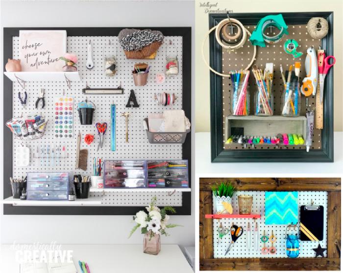 DIY Craft Room Pegboard Solutions