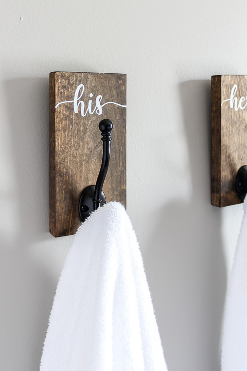 His and hers hooks perfect for towels