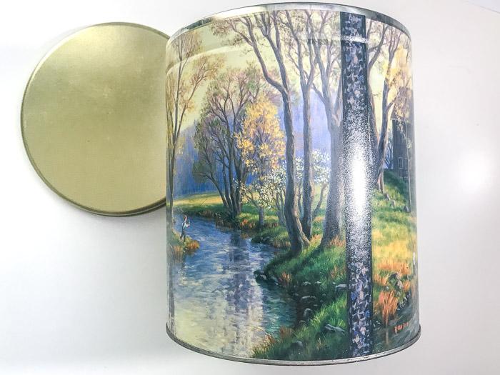 popcorn tin before painting