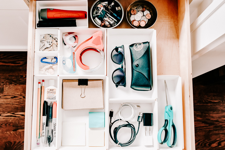 Clean out and organize your junk drawer