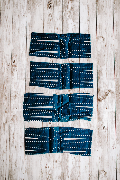Cut rectangles out of fabric