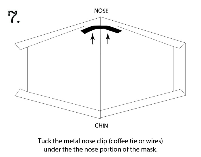insert the nose clip under the top edge