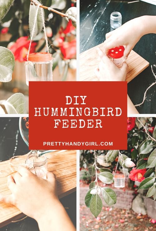 An idea for making your own hummingbird feeder! Great kids craft and perfect for Spring.