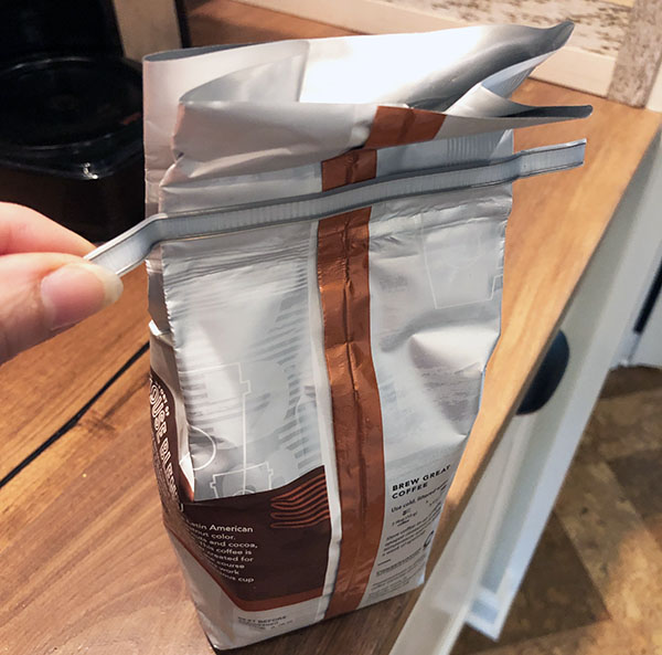 Coffee Bag with Wire Tab Tie
