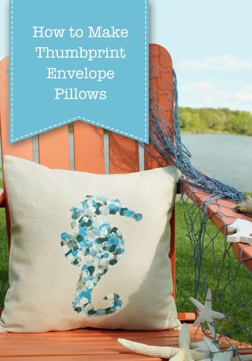 How to Make Thumbprint Design Pillows