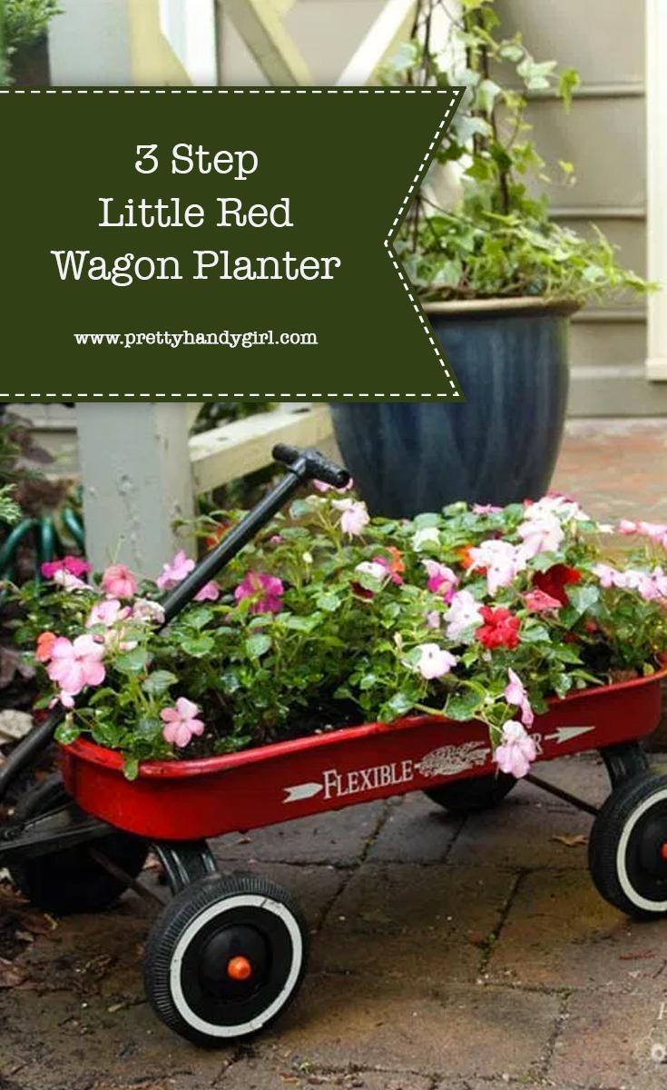 Three Step Red Wagon Planter | Pretty Handy Girl