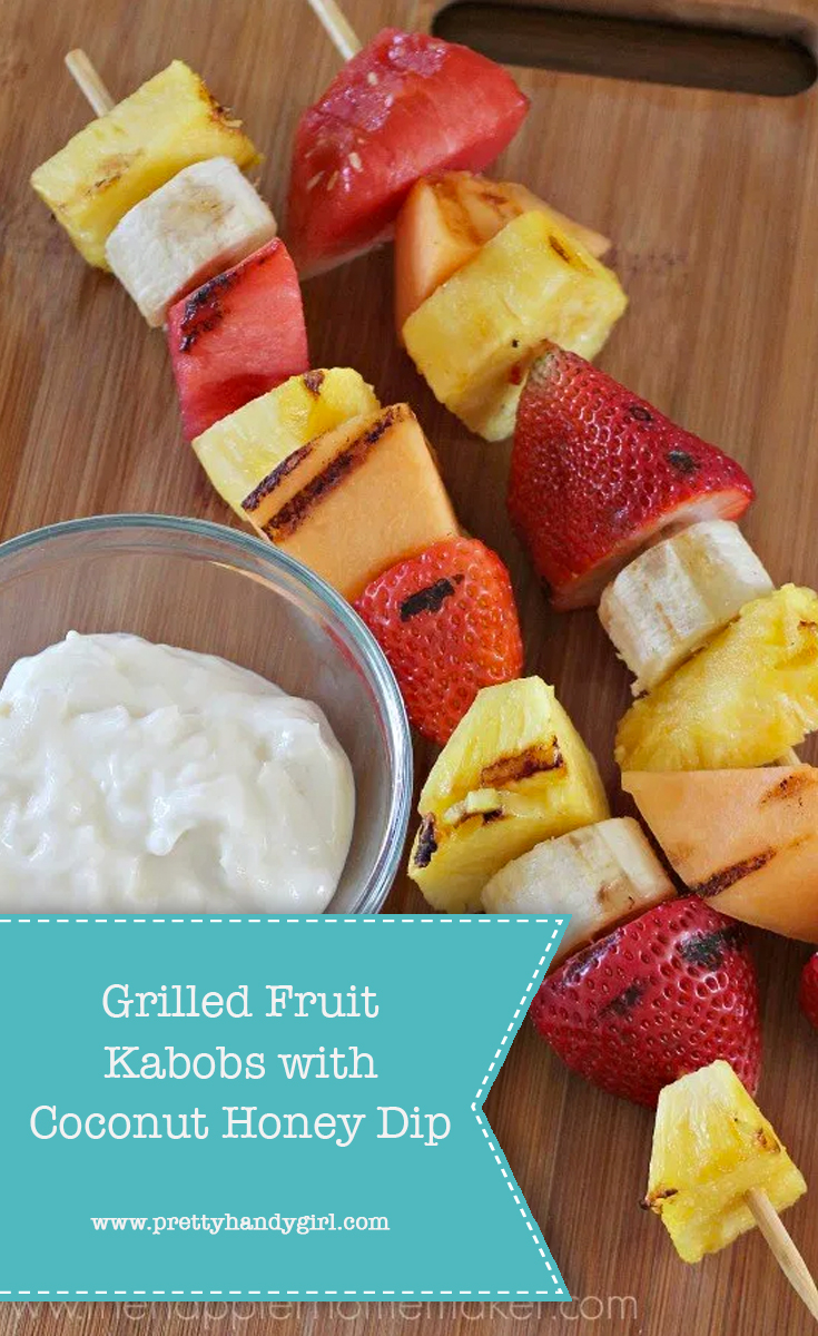 Grilled Fruit Kabobs with Coconut